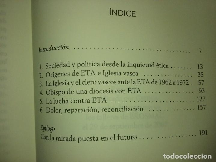 Libros de segunda mano: UN OBISPO VASCO ANTE ETA - JOSÉ MARÍA SETIÉN (CRÍTICA) - Foto 3 - 232338555