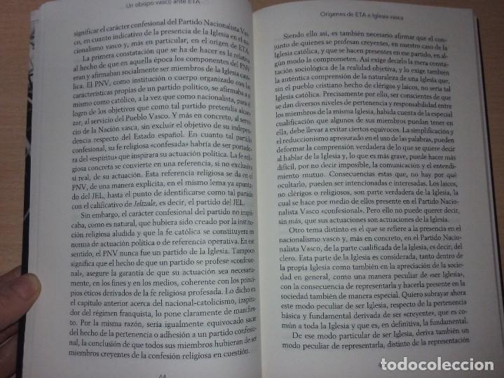 Libros de segunda mano: UN OBISPO VASCO ANTE ETA - JOSÉ MARÍA SETIÉN (CRÍTICA) - Foto 5 - 232338555
