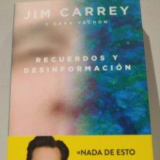 Libros de segunda mano: JIM CARREYRECUERDOS Y DESINFORMACIÓN TEMAS DE HOY. Lote 233776635