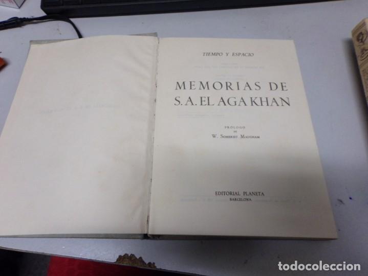 Libros de segunda mano: memorias de S A el Aga Khan - editorial planeta - 1954 - 1 a edicion - con fotografias - Foto 3 - 234659020