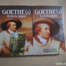 Libros de segunda mano: GOETHE. TOMO 1 Y 2. MARCEL BRION. BIBLIOTECA SALVAT DE GRANDES BIOGRAFIAS. NUEVO PRECINTADO.. Lote 236262355