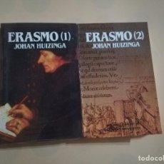 Libros de segunda mano: ERASMO. TOMO 1 Y 2. JOHAN HUIZINGA. BIBLIOTECA SALVAT DE GRANDES BIOGRAFIAS. NUEVO PRECINTADO.. Lote 236262905