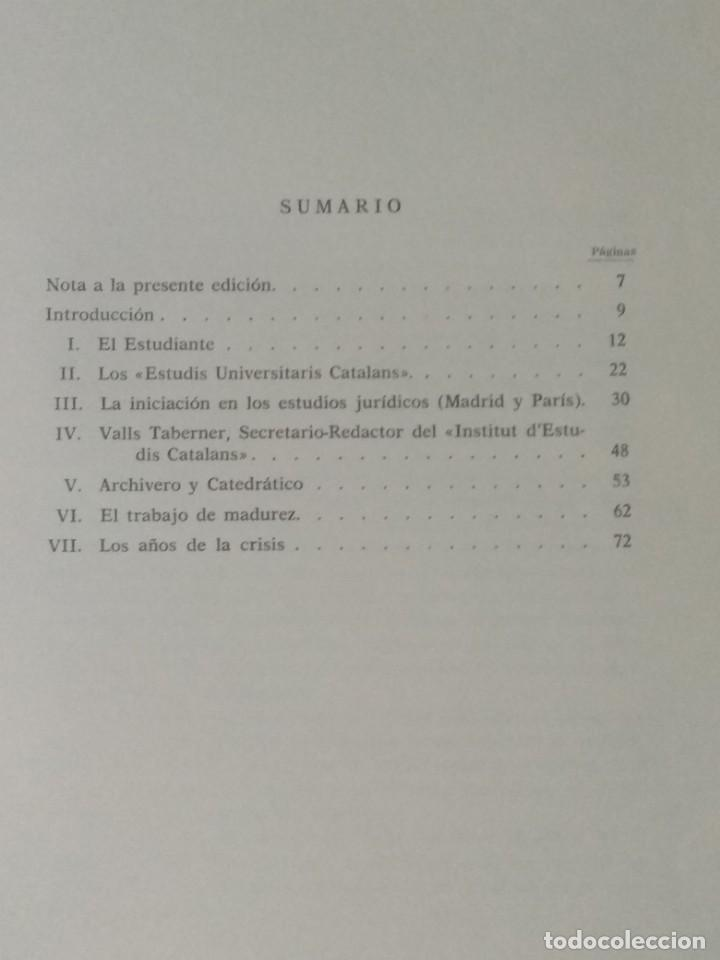 Libros de segunda mano: FERNANDO VALLS TABERNER. LIBRO POR JORDI RUBIO I BALAGUER. - Foto 2 - 236997840