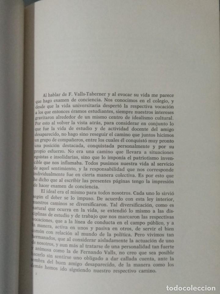Libros de segunda mano: FERNANDO VALLS TABERNER. LIBRO POR JORDI RUBIO I BALAGUER. - Foto 4 - 236997840