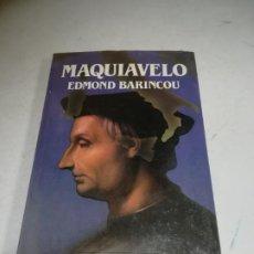 Libros de segunda mano: BIBLIOTECA SALVAT DE GRANDES BIOGRAFÍAS. MAQUIAVELO. EDMOND BARINCOU. SIN ABRIR. Lote 237484910