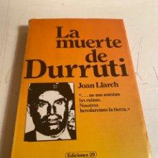 Libros de segunda mano: LA MUERTE DE DURRUTI. Lote 238621530
