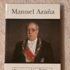 Libros de segunda mano: MANUEL AZAÑA POR FERNANDO MORAN Y JUAN VELARDE EDICIONES B 21 X 12,5 X 1,7. Lote 243434925