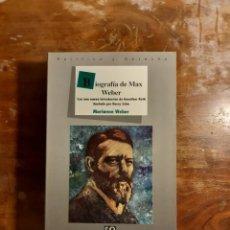 Libros de segunda mano: BIOGRAFÍA DE MAX WEBER MARIANNE WEBER. Lote 244420945