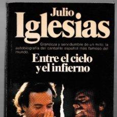 Libros de segunda mano: JULIO IGLESIAS - ENTRE EL CIELO Y EL INFIERNO - PLANETA 1981. Lote 244683170
