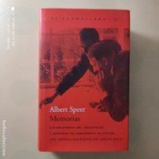 Libros de segunda mano: ALBERT SPEER. MEMORIAS. ANGEL SABRIDO.EDITORIAL EL ACANTILADO. 2001. PAG. 932. LEER.. Lote 246480555