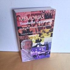 Libros de segunda mano: TEODULFO LAGUNERO - MEMORIAS, LA EXTRAORDINARIA VIDA DE UN HOMBRE EXTRAORDINARIO - DEDICADO. Lote 251287910