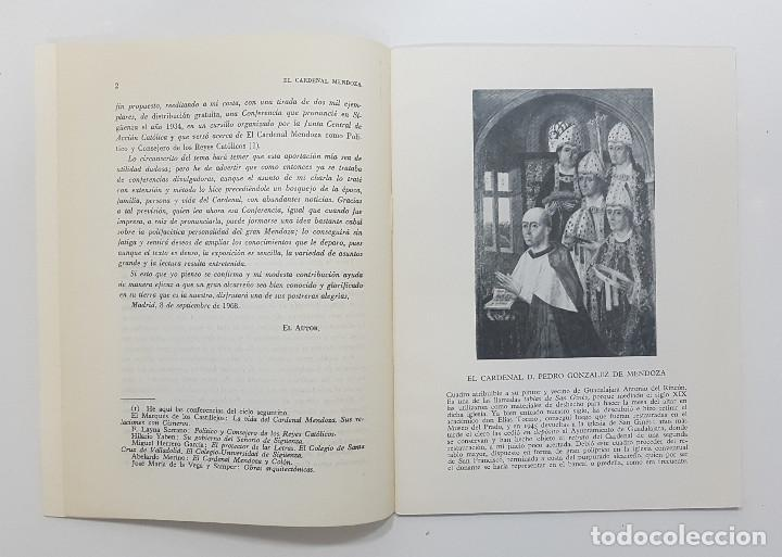 Libros de segunda mano: Francisco Layna Serrano. 1968. EL CARDENAL MENDOZA CONSEJERO REYES CATOLICOS. Sigüenza,Guadalajara - Foto 2 - 251664910