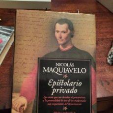 Libros de segunda mano: EPISTOLARIO PRIVADO, NICOLÁS MAQUIAVELO. Lote 254445375