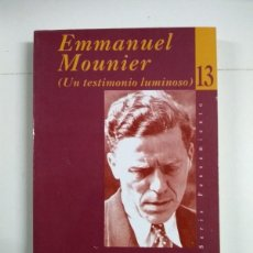 Libros de segunda mano: EMMANUEL MOUNIER. (UN TESTIMONIO LUMINOSO) - CARLOS DÍAZ. Lote 255023470