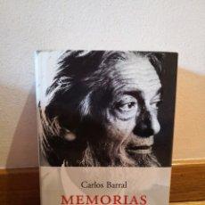 Libros de segunda mano: MEMORIAS CARLOS BARRAL. Lote 257824200