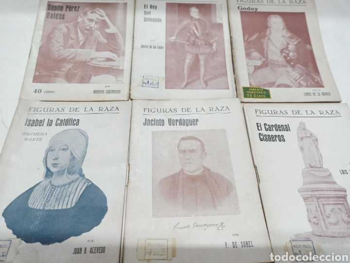 Libros de segunda mano: LOTE 12 BIOGRAFIAS COL. FIGURAS DE LA RAZA: JOAQUIN COSTA, ROSALES, RICARDO PALMA, PEDRO DE VALDIVIA - Foto 2 - 259257015