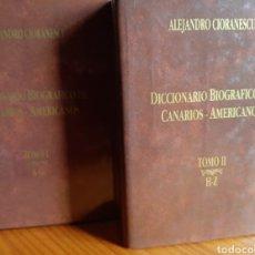 Libros de segunda mano: DICCIONARIO BIOGRÁFICO DE CANARIOS AMERICANOS. Lote 261697265