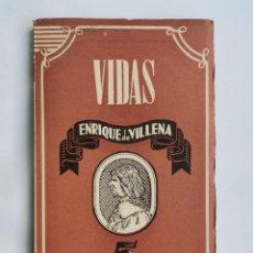 Libros de segunda mano: VIDAS ENRIQUE DE VILLENA. Lote 263176975
