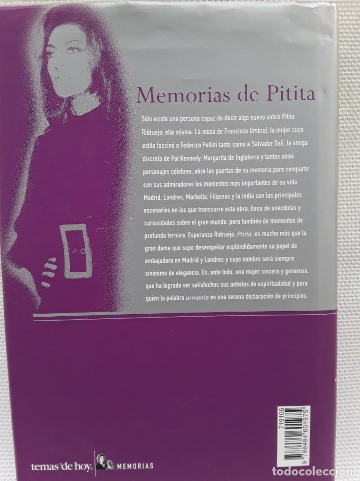 Libros de segunda mano: Esperanza Ridruejo - Memorias de Pitita (Temas de hoy, 2002) Segunda edición - Foto 2 - 263176980