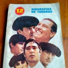 Libros de segunda mano: LIBRO BIOGRAFIAS DE TOREROS.. Lote 268985564