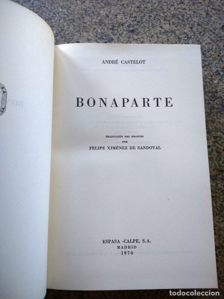 BONAPARTE - TOMO 1 - ANDRE CASTELOT -- ESPASA CALPE 1970 -- GRANDES BIOGRAFIAS -- (Libros de Segunda Mano - Biografías)