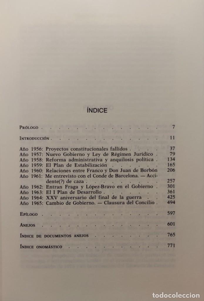 Libros de segunda mano: MEMORIAS. AÑOS DECISIVOS. EL PRINCIPIO DEL FIN / LAUREANO LÓPEZ RODÓ. DEDICATORIA DEL AUTOR (3 VOL.) - Foto 3 - 269078733