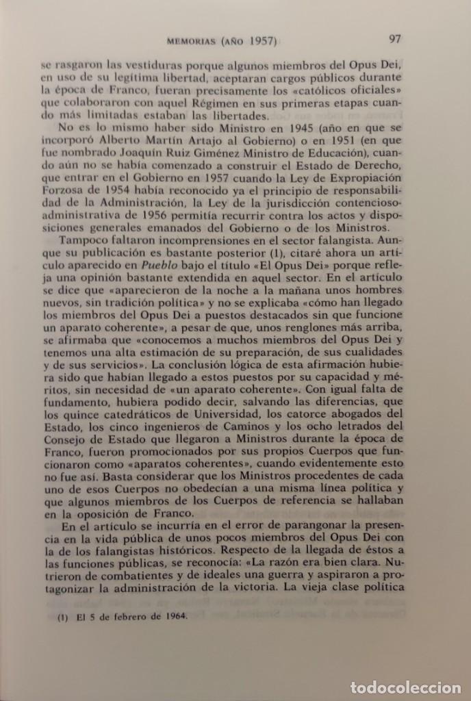 Libros de segunda mano: MEMORIAS. AÑOS DECISIVOS. EL PRINCIPIO DEL FIN / LAUREANO LÓPEZ RODÓ. DEDICATORIA DEL AUTOR (3 VOL.) - Foto 4 - 269078733