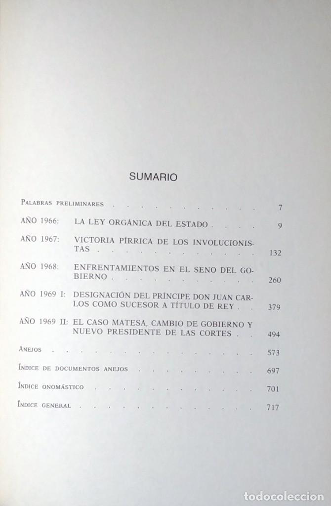 Libros de segunda mano: MEMORIAS. AÑOS DECISIVOS. EL PRINCIPIO DEL FIN / LAUREANO LÓPEZ RODÓ. DEDICATORIA DEL AUTOR (3 VOL.) - Foto 7 - 269078733