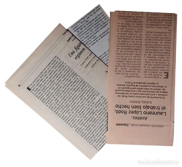 Libros de segunda mano: MEMORIAS. AÑOS DECISIVOS. EL PRINCIPIO DEL FIN / LAUREANO LÓPEZ RODÓ. DEDICATORIA DEL AUTOR (3 VOL.) - Foto 11 - 269078733