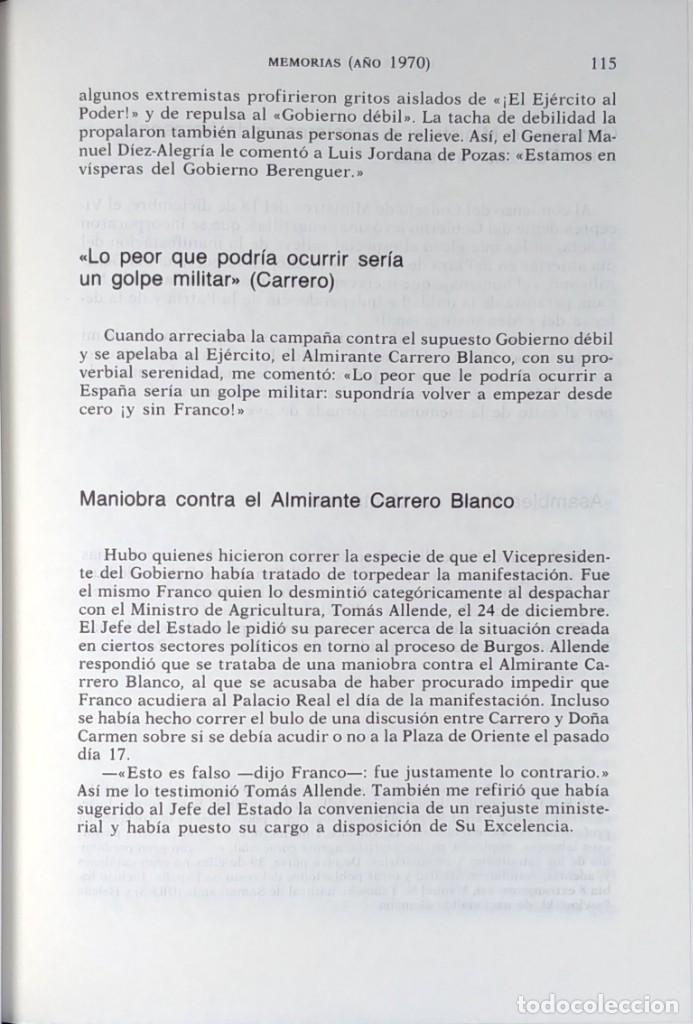 Libros de segunda mano: MEMORIAS. AÑOS DECISIVOS. EL PRINCIPIO DEL FIN / LAUREANO LÓPEZ RODÓ. DEDICATORIA DEL AUTOR (3 VOL.) - Foto 16 - 269078733