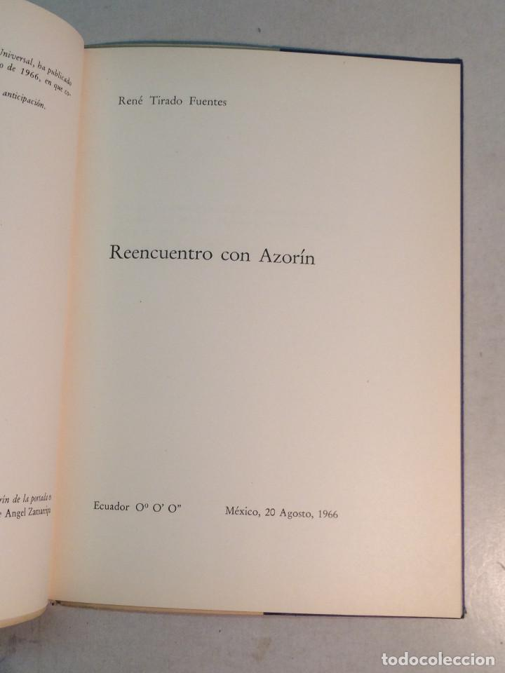 Libros de segunda mano: René Tirado Fuentes: Reencuentro con Azorín (1965) - Foto 3 - 269088433