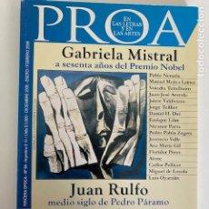 Libros de segunda mano: GABRIELA MISTRAL A SESENTA AÑOS DEL PREMIO NOBEL.3,33 ENVÍO CERTIFICADO.. Lote 269121408