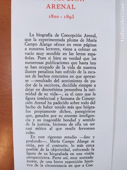 Libros de segunda mano: CONCEPCIÓN ARENAL 1820-1893. ESTUDIO BIOGRAFICO DOCUMENTAL /MARÍA CAMPO ALANGE /REVISTA DE OCCIDENTE - Foto 4 - 269261698