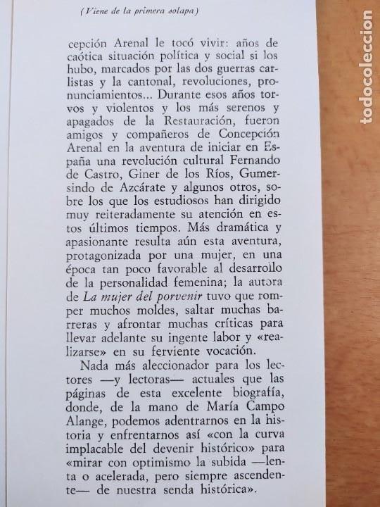 Libros de segunda mano: CONCEPCIÓN ARENAL 1820-1893. ESTUDIO BIOGRAFICO DOCUMENTAL /MARÍA CAMPO ALANGE /REVISTA DE OCCIDENTE - Foto 5 - 269261698