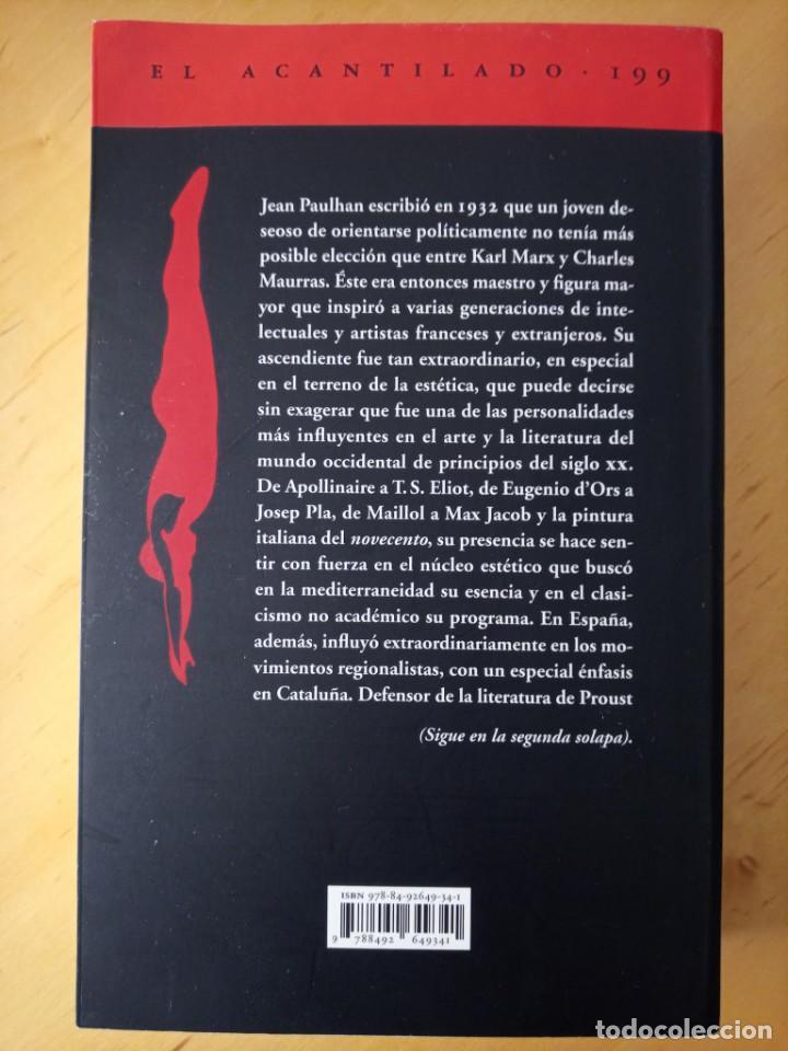 Libros de segunda mano: STEPHANE GIOCANTI CHARLES MAURRAS EL CAOS Y EL ORDEN - Foto 3 - 269984983