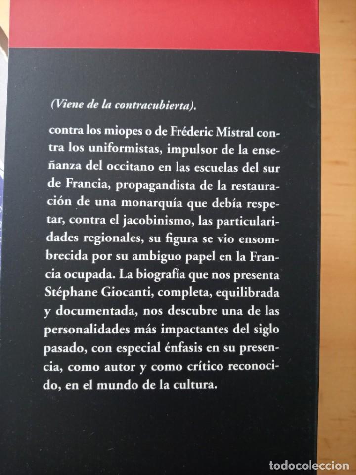 Libros de segunda mano: STEPHANE GIOCANTI CHARLES MAURRAS EL CAOS Y EL ORDEN - Foto 4 - 269984983