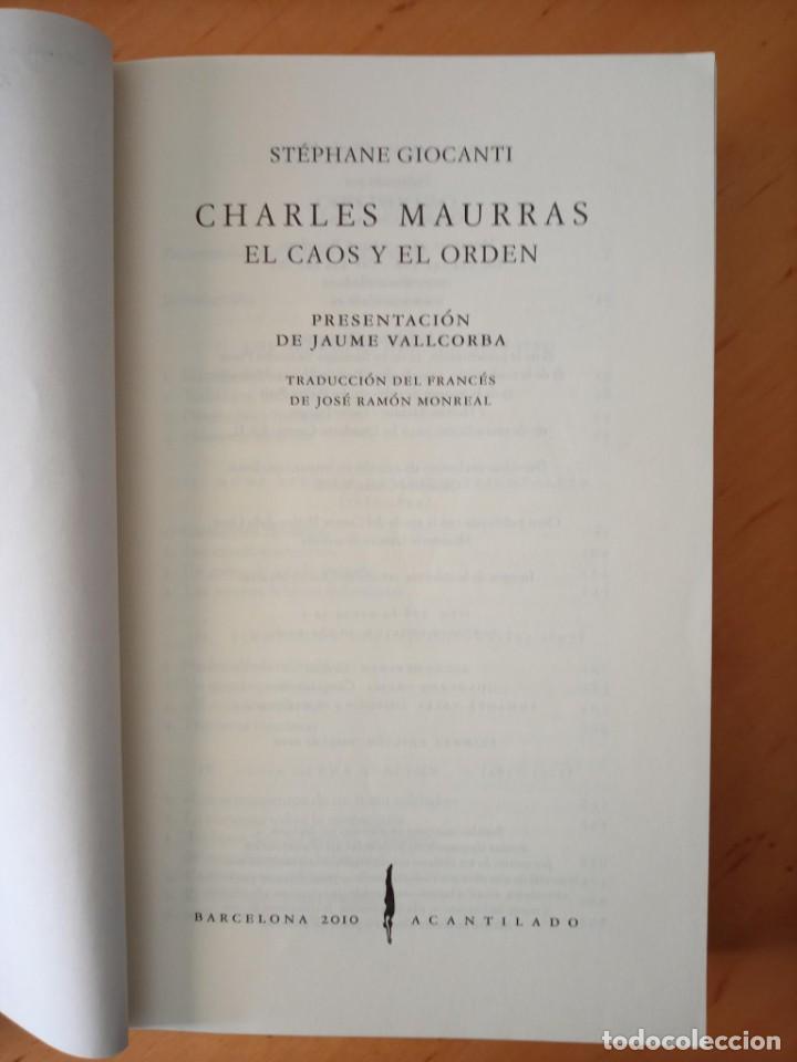 Libros de segunda mano: STEPHANE GIOCANTI CHARLES MAURRAS EL CAOS Y EL ORDEN - Foto 5 - 269984983