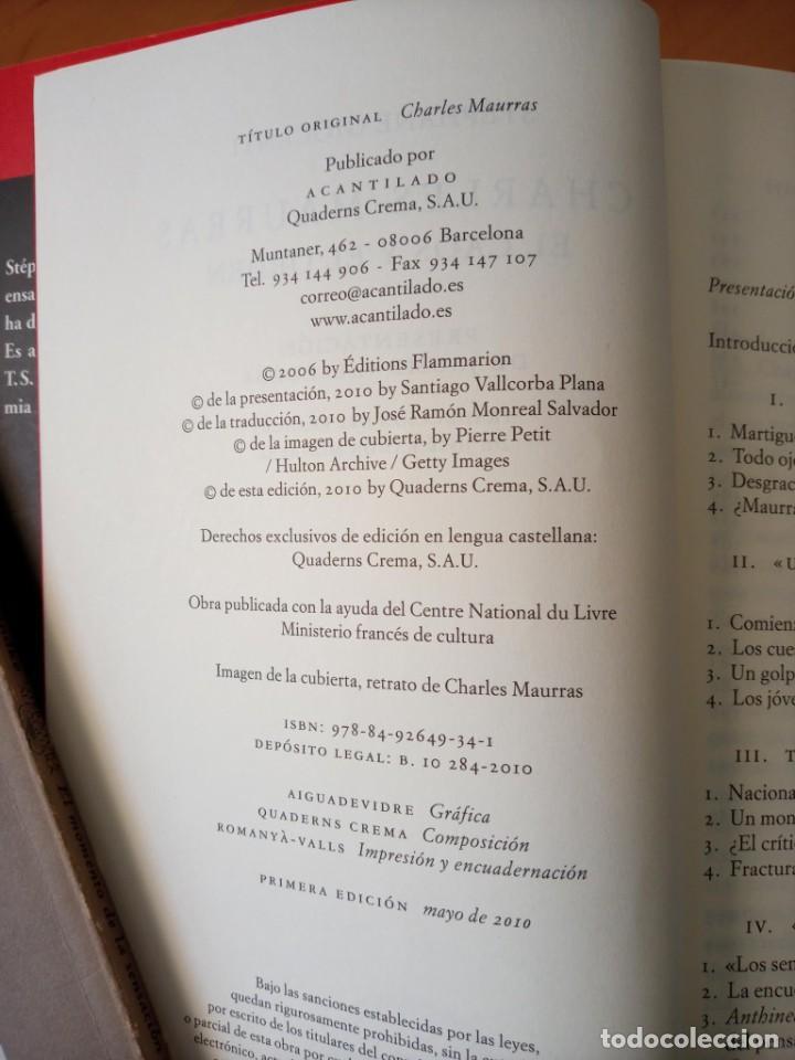 Libros de segunda mano: STEPHANE GIOCANTI CHARLES MAURRAS EL CAOS Y EL ORDEN - Foto 6 - 269984983