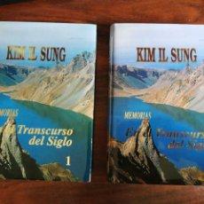 Libros de segunda mano: KIM IL SUNG. MEMORIAS. EN EL TRANSCURSO DEL SIGLO (2 LIBROS). Lote 270097413