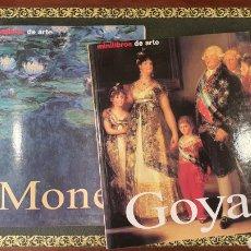 Libros de segunda mano: 2 MINILIBROS DE ARTE (PINTURA MONET Y GOYA), BIOGRAFIAS. Lote 273970053