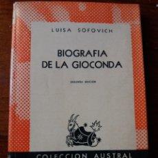 Libros de segunda mano: BIOGRAFIA DE LA GIOCONDA. Lote 276208558