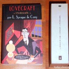 Libros de segunda mano: LOVECRAFT : UNA BIOGRAFÍA (EL CLUB DIÓGENES ; 183) / L. SPRAGUE DE CAMP. - 1ª ED. - VALDEMAR, 2002. Lote 276714833