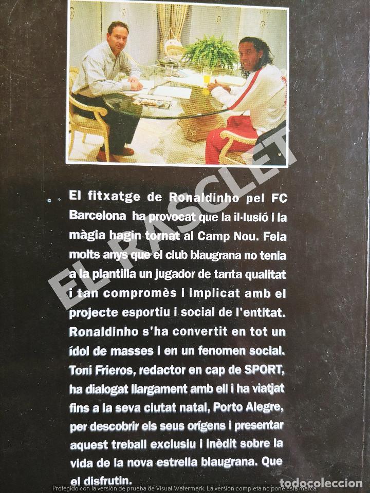 Libros de segunda mano: RONALDINHO - LA MAGIA D UN CRAC - COLECCION SPORT - EN CATALAN - Foto 3 - 277119278