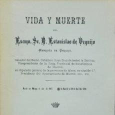 Libros de segunda mano: VIDA Y MUERTE DE ESTANISLAO DE URQUIJO. Lote 277693983