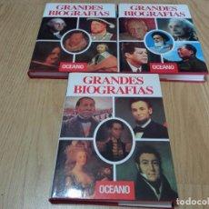 Libros de segunda mano: GRANDES BIOGRAFÍAS 3 VOL ( NUM,2, 3, 4). Lote 281903828