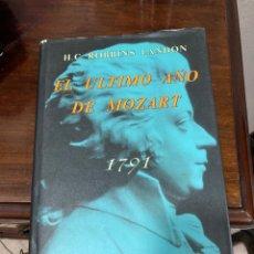 Libros de segunda mano: LIBRO EL ÚLTIMO AÑO DE MOZART. Lote 283012683