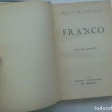 Libros de segunda mano: GUERRA CIVIL : FRANCO , DE ARRARAS . LIBRERIA INTERNACIONAL, SANSEBASTIAN, 3ª EDICION 1937. Lote 288367118