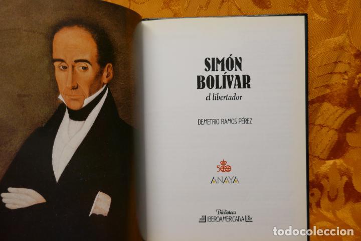 Libros de segunda mano: SIMÓN BOLIVAR, EL LIBERTADOR DEMETRIO RAMOS PÉREZ - ANAYA - Foto 6 - 288547908
