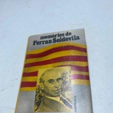 Libros de segunda mano: MEMORIES DE FERRAN SOLDEVILA. Lote 288715593