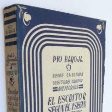 Libros de segunda mano: BAROJA, PÍO - MEMORIAS. EL ESCRITOR SEGÚN ÉL Y SEGÚN LOS CRÍTICOS - PRIMERA EDICIÓN. Lote 288915368